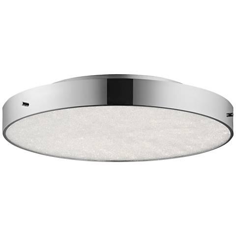 "Elan Crystal Moon Chrome 19 3/4""W LED Round Ceiling Light"