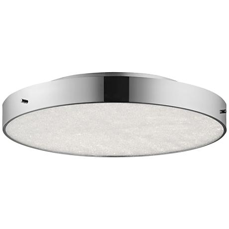 "Elan Crystal Moon Chrome 19 3/4""W LED Round Ceiling Light"
