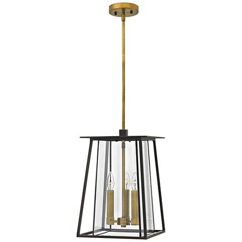 """Hinkley Walker 17 1/4"""" High Bronze Outdoor Hanging Light"""