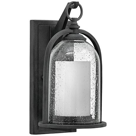 "Hinkley Quincy 13 1/2"" High Aged Zinc Outdoor Wall Light"