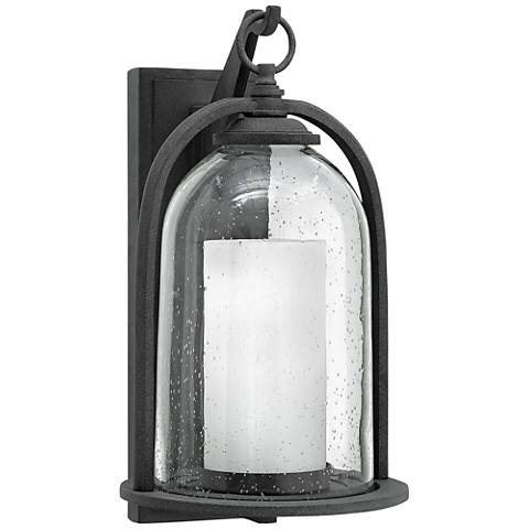 "Hinkley Quincy 16 3/4"" High Aged Zinc Outdoor Wall Light"