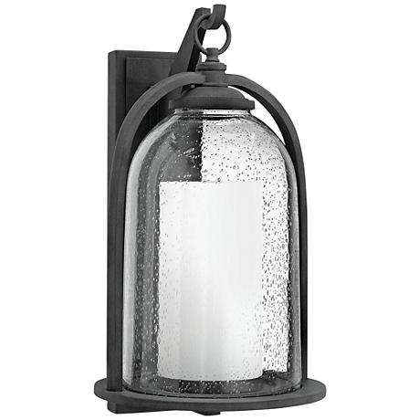"Hinkley Quincy 20"" High Aged Zinc Outdoor Wall Light"