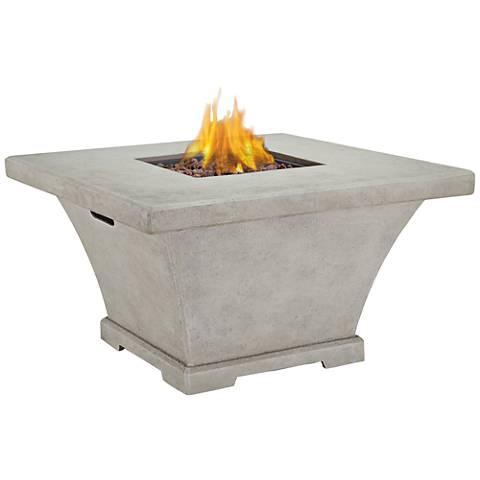 Monaco Cream Chat-Height Square Propane Fire Table