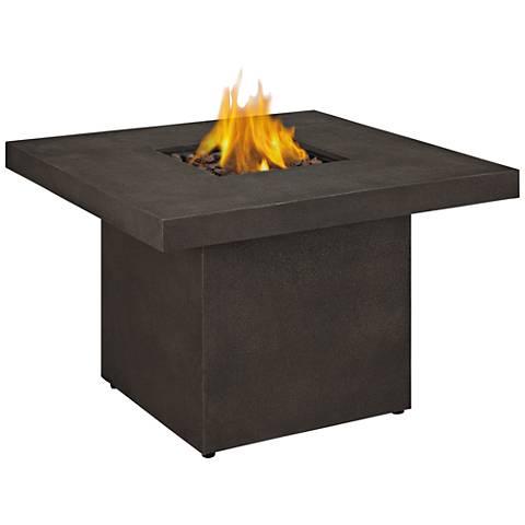 Ventura Kodiak Brown Square Propane Chat Fire Table