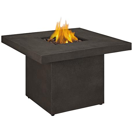 Ventura Kodiak Brown Square Propane Chat Fire Table