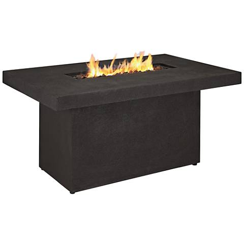 Ventura Kodiak Brown Rectangle Propane Chat Fire Table