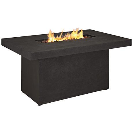 Ventura Kodiak Brown Rectangle Propane Chat Fire Table
