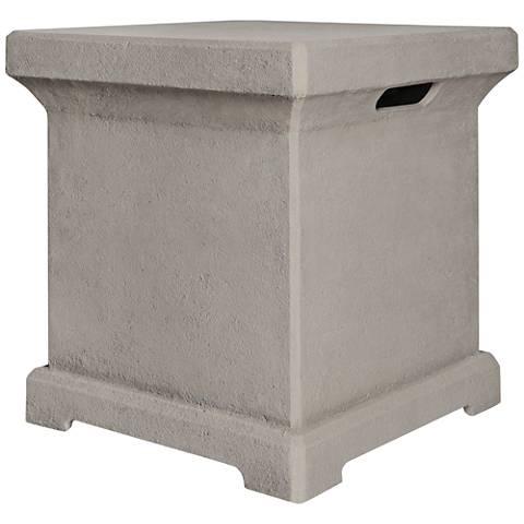 Monaco Cream Fiber Concrete 20-Lb. Propane Tank Holder