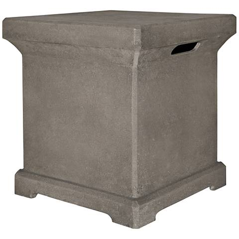 Monaco Gray Fiber Concrete 20-Lb. Propane Tank Holder