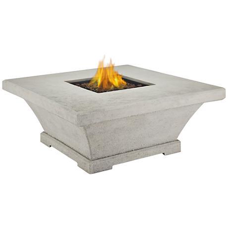 Monaco Cream Low-Height Square Propane Fire Table