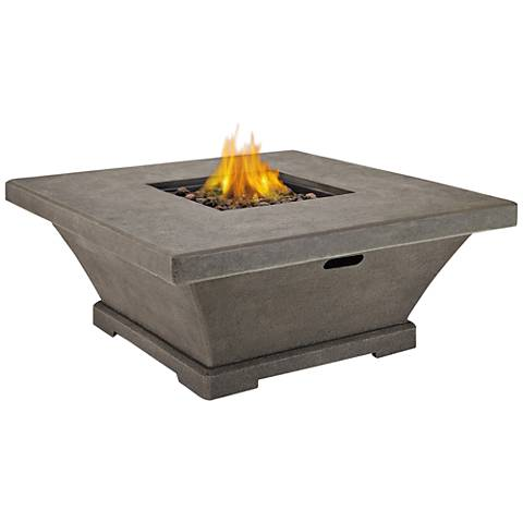 Monaco Glacier Gray Low-Height Square Propane Fire Table
