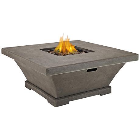Monaco Glacier Gray Low-Height Square Propane Fire Table