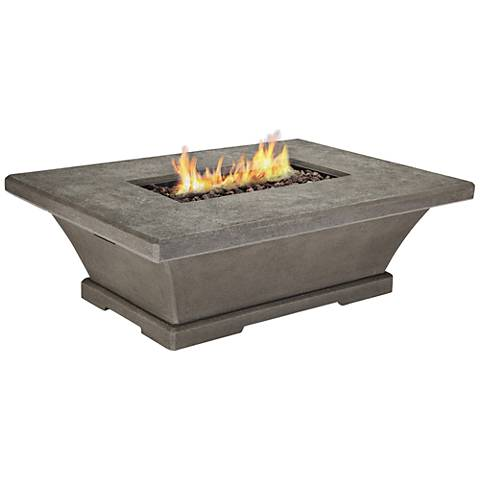 Monaco Gray Low-Height Rectangle Propane Fire Table
