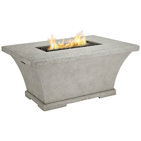 Monaco Cream Chat-Height Rectangle Propane Fire Table