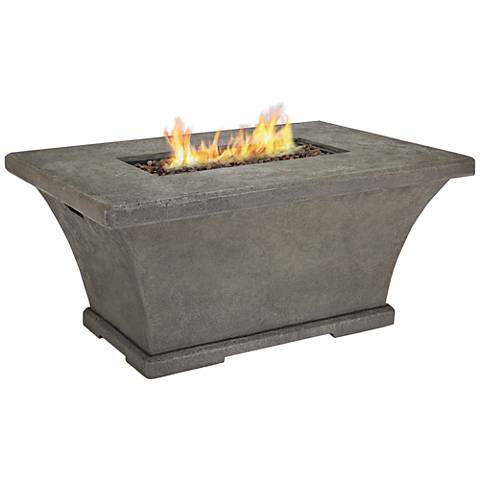 Monaco Gray Chat-Height Rectangle Propane Fire Table