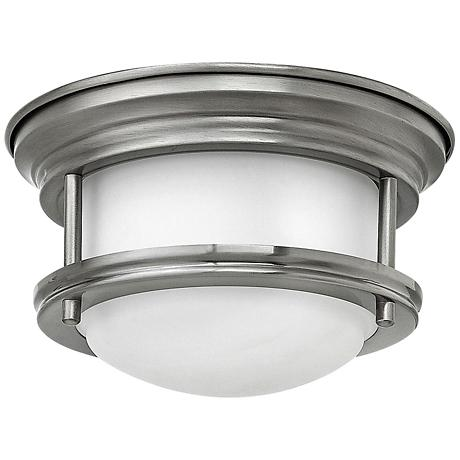 """Hinkley Hathaway 7 3/4"""" Wide LED Opal Glass Ceiling Light"""