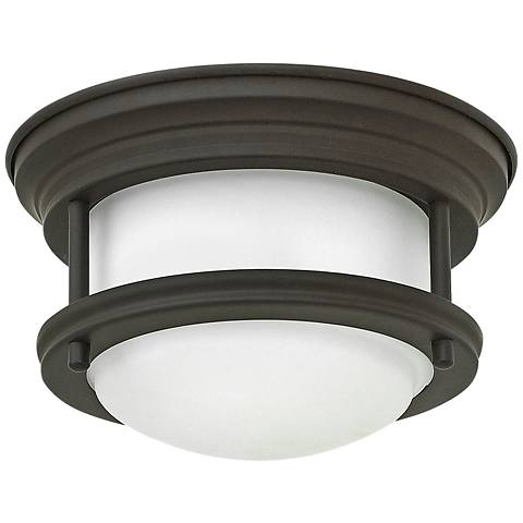 """Hinkley Hathaway 7 3/4""""W LED Oiled Bronze Ceiling Light"""