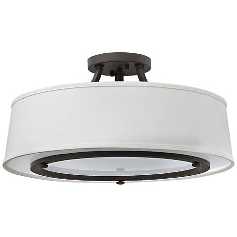"Hinkley Harrison 20"" Wide Buckeye Bronze Ceiling Light"