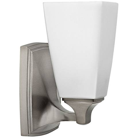"Hinkley Darby 8 1/4"" High Brushed Nickel Wall Sconce"