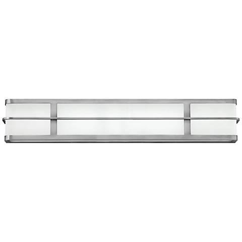 """Hinkley Fairlane 29 1/2""""W Brushed Nickel 2-LED Bath Light"""
