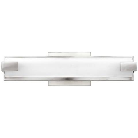"Hinkley Unity 16"" Wide LED Polished Nickel Bath Light"