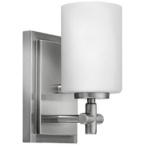 "Hinkley Laurel 8 1/4"" High Brushed Nickel Wall Sconce"