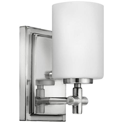 "Hinkley Laurel 8 1/4"" High Polished Nickel Wall Sconce"