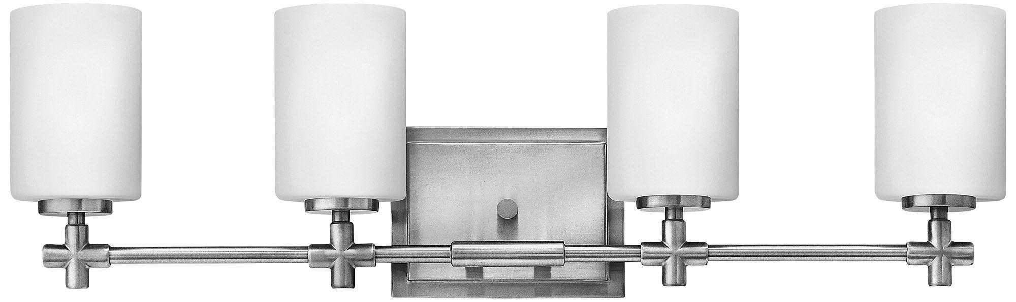 Hinkley Laurel 4-Light 27 3/4 W Brushed Nickel Bath Light  sc 1 st  L&s Plus & Hinkley Bathroom Lighting   Lamps Plus azcodes.com