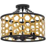 "Fredrick Ramond Felix 16""W Sunset Gold Foyer Ceiling Light"