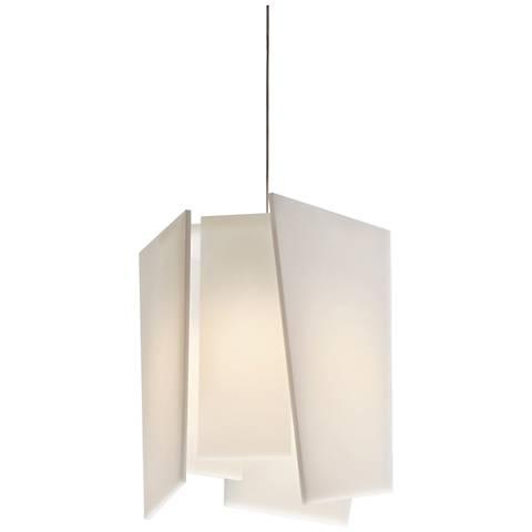 "Cerno Levis L 11"" Wide Brushed Aluminum LED Mini Pendant"