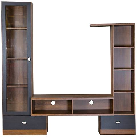 Baxton Studio Empire Open-Storage Espresso TV Stand