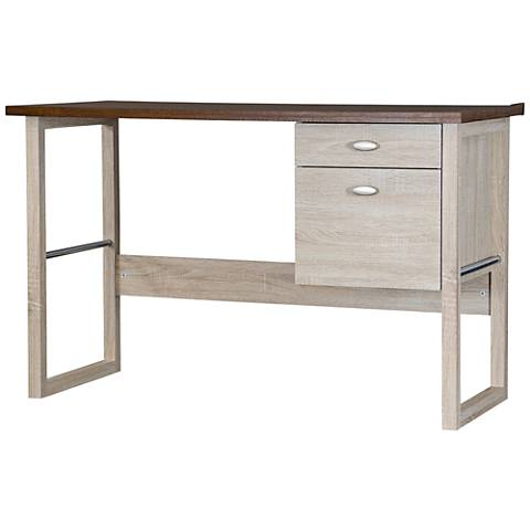 Uttermost Bridgely Aged White Writing Desk 4n557