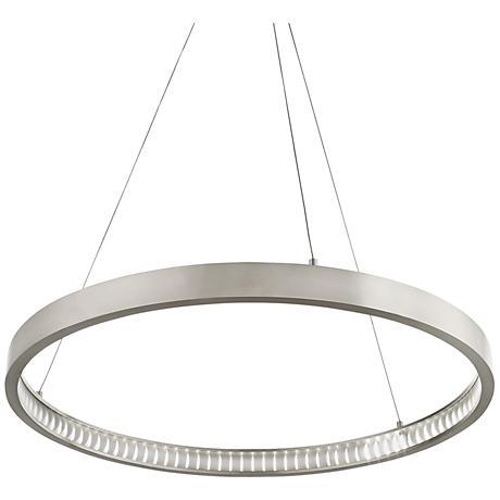 "Tech Lighting Bodiam 30""W Satin Nickel LED Pendant Light"