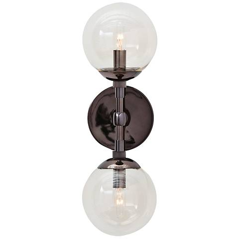 "Arteriors Home Polaris 17"" High Brown Nickel Wall Sconce"