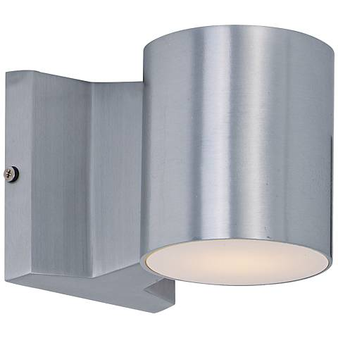 "Lightray 4"" High Cylindrical Aluminum LED Outdoor Wall Light"