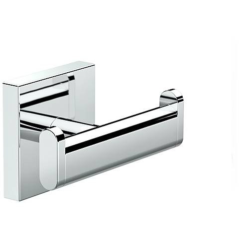 "Gatco Elevate Chrome 3"" Wide Double Robe Hook"