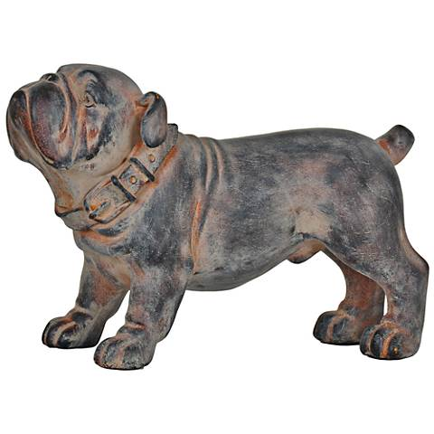 "Crestview Bull Run 12 1/2"" Wide Bulldog Statue"