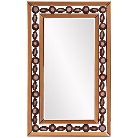 "Howard Elliott Copper 23"" x 37"" Rectangular Wall Mirror"