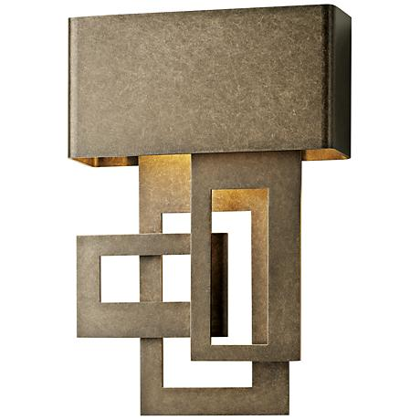 """Collage 13 3/4""""H Smoke Right Small LED Outdoor Wall Light"""