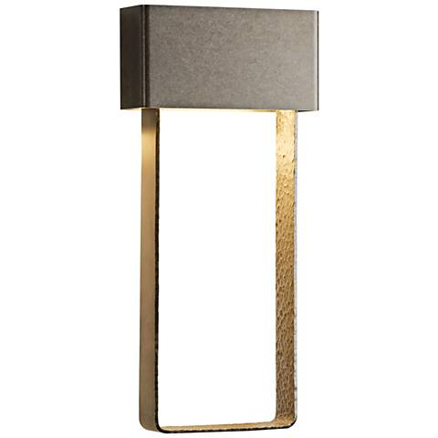 "Quad 20 1/3""H Burnished Steel Large LED Outdoor Wall Light"