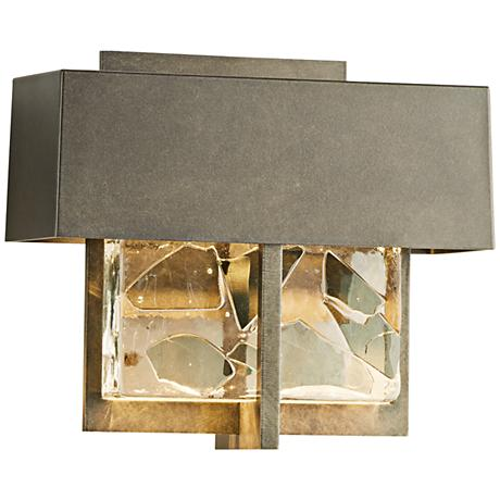 """Shard 7 1/4""""H Burnished Steel Small LED Outdoor Wall Light"""