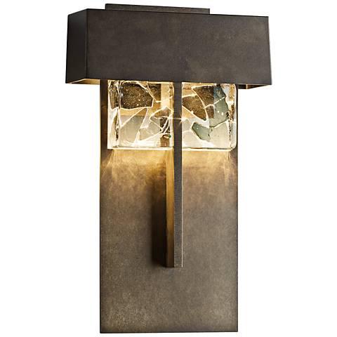 "Shard 14 1/4"" High Dark Smoke Large LED Outdoor Wall Light"