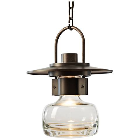 "Mason 14 1/2"" High Dark Smoke Large Outdoor Hanging Light"