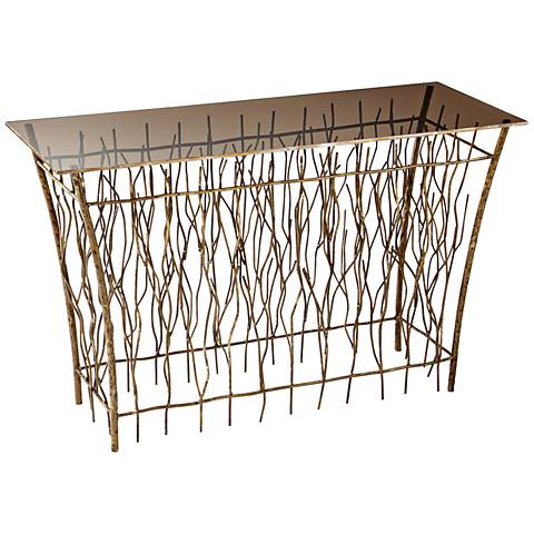 Brittany Branch Antique Gold Console Table