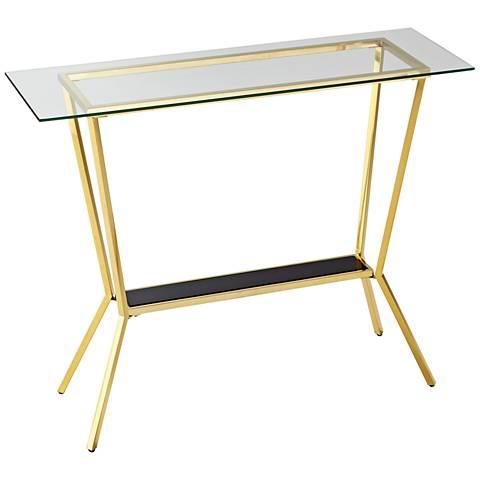Arabella Retro Brass Two-Glass Console Table