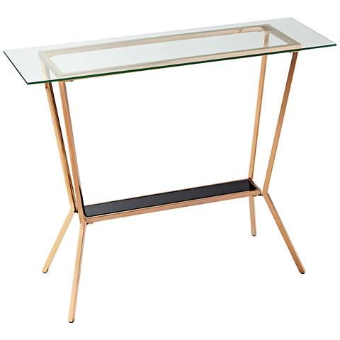 Arabella Retro Rose Gold Two-Glass Console Table