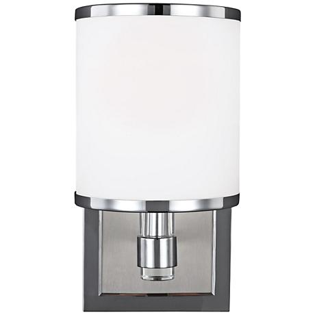 """Feiss Prospect Park 9 3/4"""" High Satin Nickel Wall Sconce"""