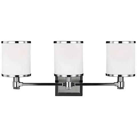 "Feiss Prospect Park 23""W 3-Light Satin Nickel Bath Light"