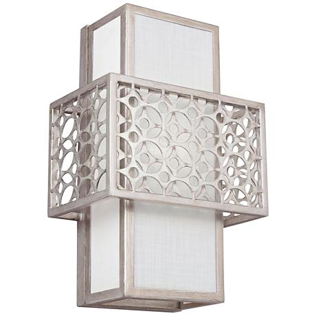 "Feiss Kenney 14"" High Sunrise Silver 1-Light Wall Sconce"