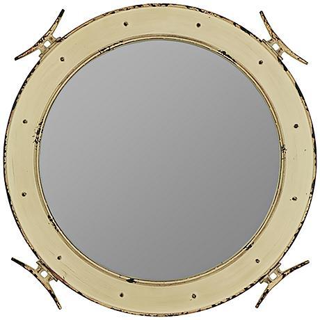 "Cooper Classics Piombino 27"" Round Nautical Wall Mirror"